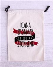 Personalised Stukkend Biltong Bag