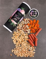 Personalised Thank You Gourmet Fruit And Nuts Tube