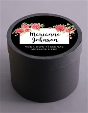 Personalised Blossom Fruit and Nut Hat Box