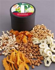Personalised Botanical Fruit and Nut Hat Box