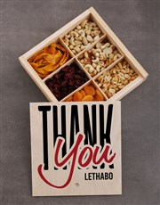 Personalised Thank You Snack Crate
