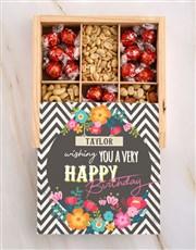 Personalised Birthday Floral Snack Crate