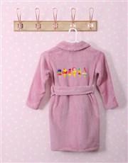 Personalised I Scream Pink Fleece Kids Gown