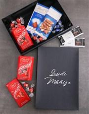 Personalised Black Lindt Box