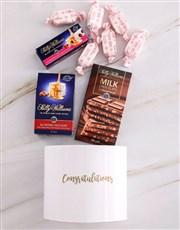 Personalised Congratulations Nougat Box