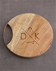 Personalised Lock Key Round Chopping Board