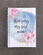 Personalised Sings My Soul Mug And Notebook