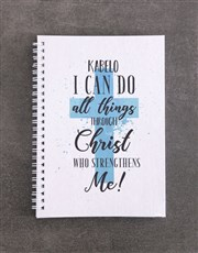 Personalised All Things Mug Notebook