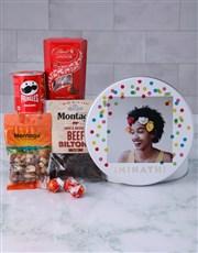 Personalised Photo Polka Dot Gourmet Tin