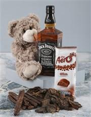 Brown Teddy And Jack Daniels Surprise