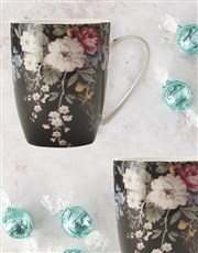 Maxwell And Williams Midnight Blossom Mug Set