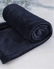 Denim Blue Blanket And Lion Hamper