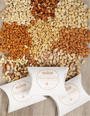 An assortment of nuts in a gift box, included in t