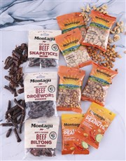 A gift box containing a spicy mix of assorted bilt