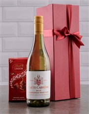Send this bottle of Haute Cabriere wine and Lindt