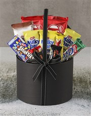 Large Chocolate Filled Hatbox
