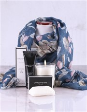 Charlotte Rhys Pamper Box And Blue Floral Scarf