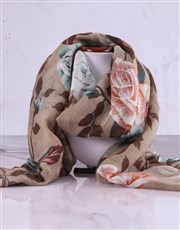 Charlotte Rhys Pamper Box And Beige Floral Scarf