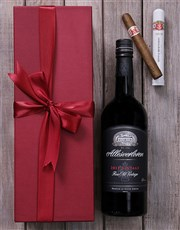 Make any occasion special with this red gift box w