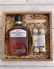 Gentleman Jack and Cuban Cigar Crate