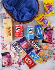 Round Basket of Sweet Treats