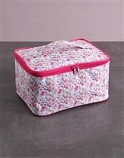 Large Pink Floral Vanity