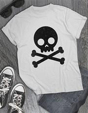 Black Glitter Skull T Shirt