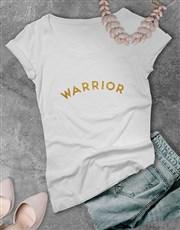 Warrior Glitter Ladies T Shirt