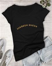 Shebeen Queen Glitter Ladies T Shirt
