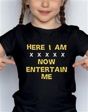 Entertain Me Kids T Shirt