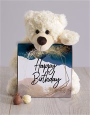 Glitter And Watercolour Birthday Teddy Hamper