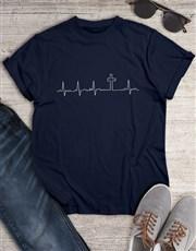 Heartbeat Cross Christian Shirt