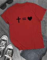 Cross Equals Love Christian Shirt