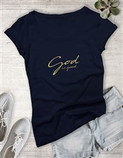 Ladies God Is Good Christian Shirt