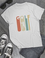 Stretched Letters Golfer Shirt