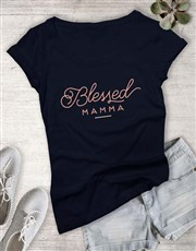Feminine Blessed Mama Ladies T-Shirt