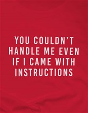 Even If I Came With Instructions Ladies T-Shirt