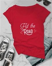 Hit The Road Ladies T Shirt