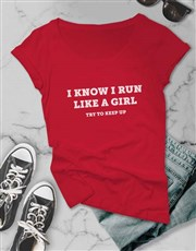 Run Like A Girl Ladies T Shirt