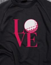 Golf Lover Ladies Sweatshirt