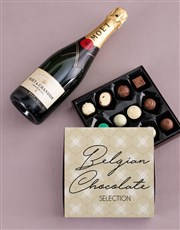 Moet and Truffle Box
