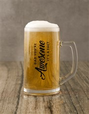 Awesome Dad Gourmet Food And Beer Glass Gift