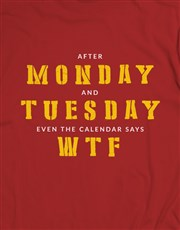 After Monday WTF T Shirt