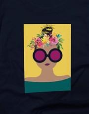 Flowers In Her Hair Ladies T Shirt
