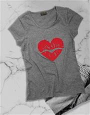 Red Lipstick Kiss Ladies T Shirt