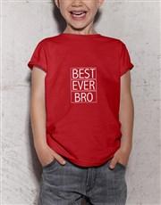 Best Bro Ever Kids Red T Shirt