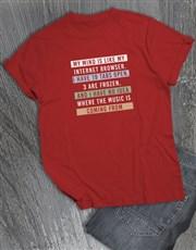 Too Many Tabs T Shirt