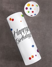 Happy Colourful Birthday Fruit And Nuts Tube