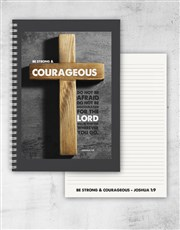 Strong And Courageous Journal