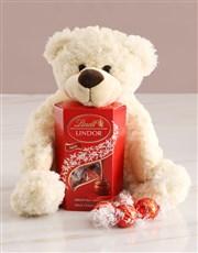Teddy Bear With Lindt Chocolate